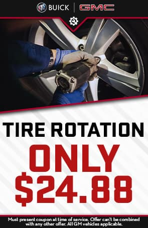 Tire Rotation only $24.88