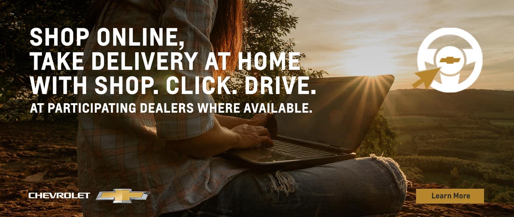 Shop online with Shop, Click, Drive