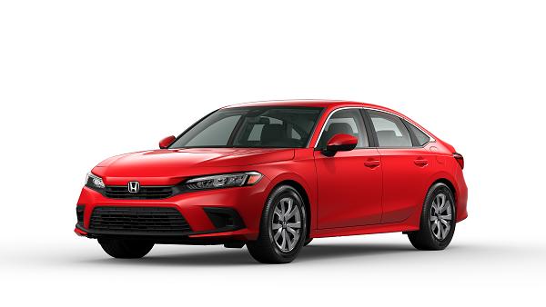 2022 Honda Civic LX Sedan in Rallye Red