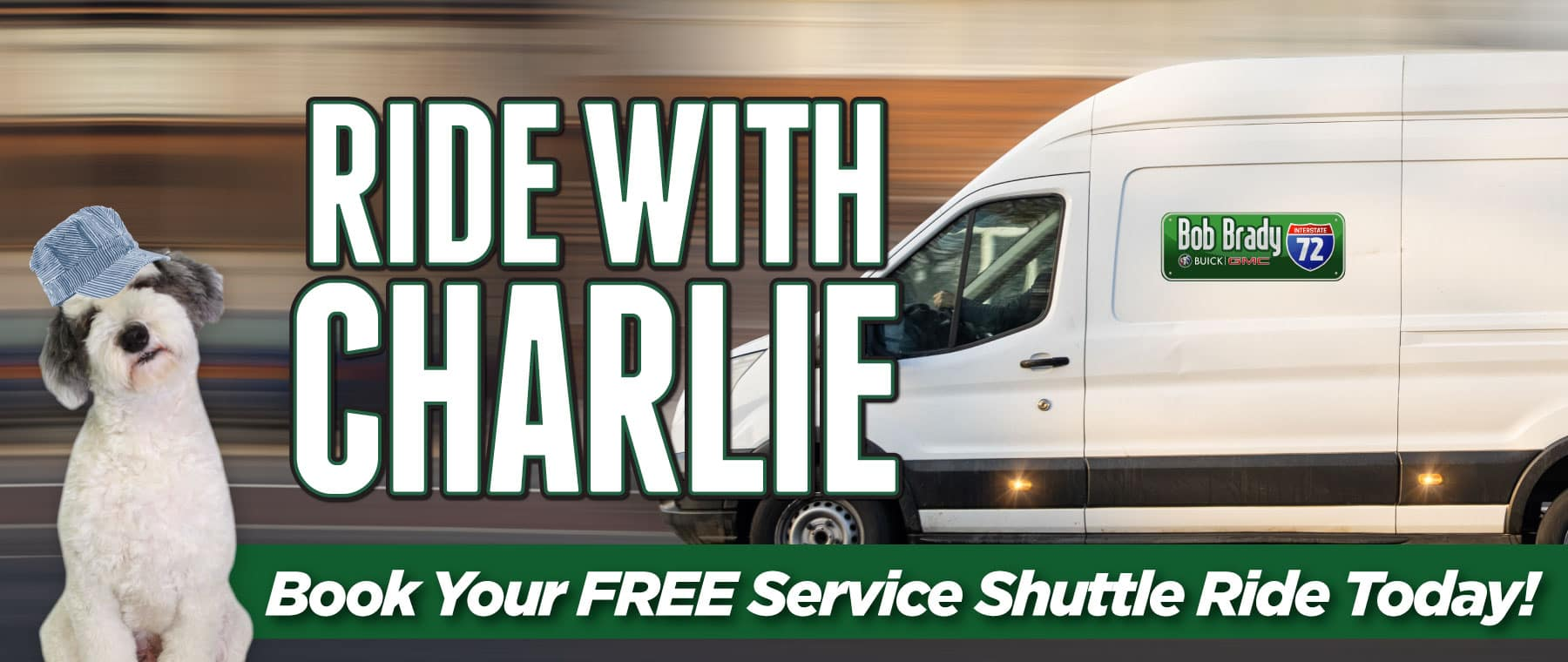 Ride with Charlie   Book your free service shuttle ride today