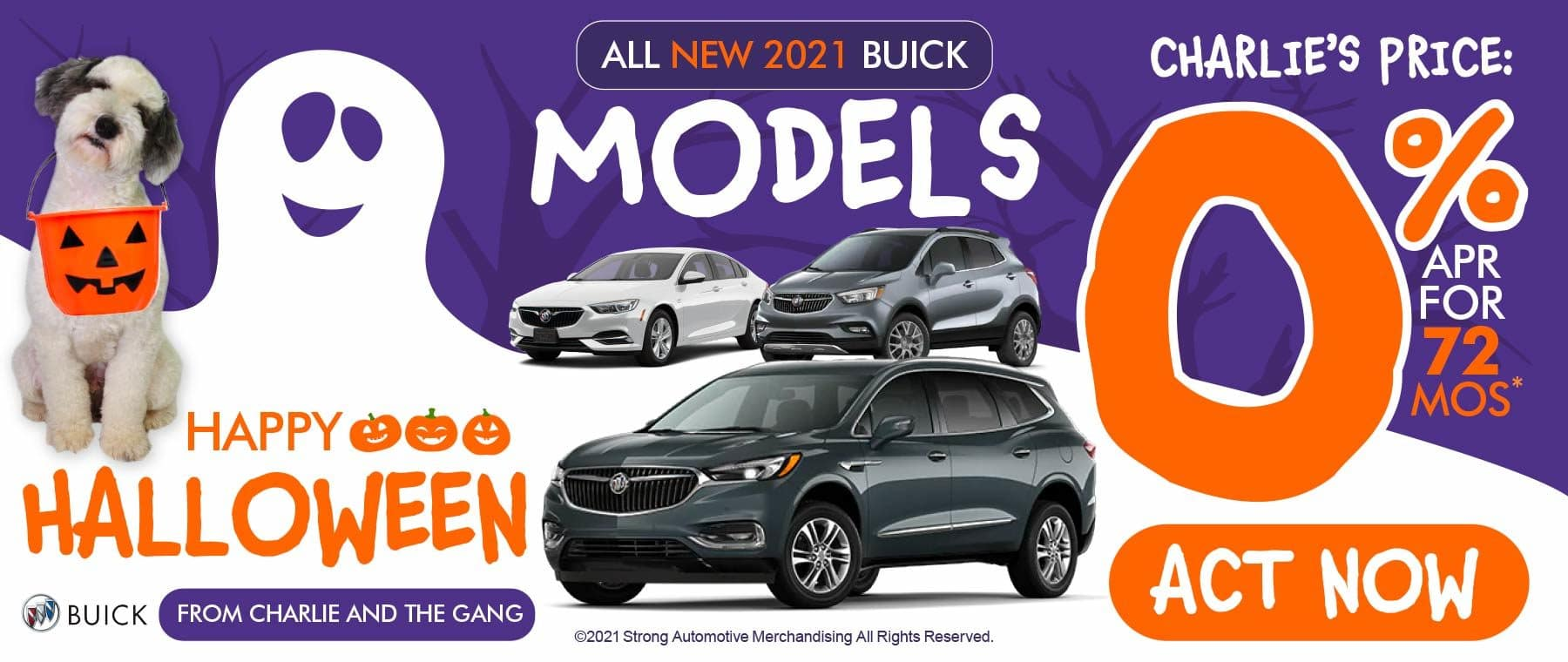 All New 2021 Buick Models - Charlie's Price: 0% APR for 72 months - Act Now