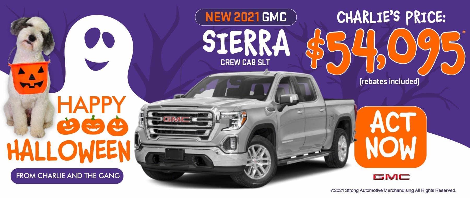 NEW 2021 GMC SIERRA CREW CAB SLT MSRP: $56,095, SALE PRICE: $54,095 Stk#2693 ACT NOW
