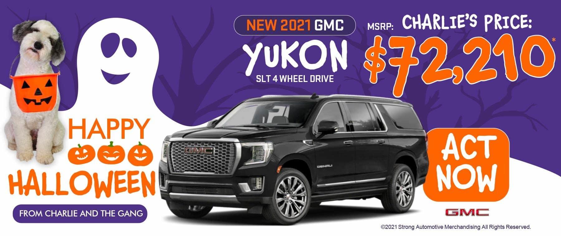 2021 GMC Yukon SLT 4WD Stk#G2696 MSRP: $72,210 ACT NOW