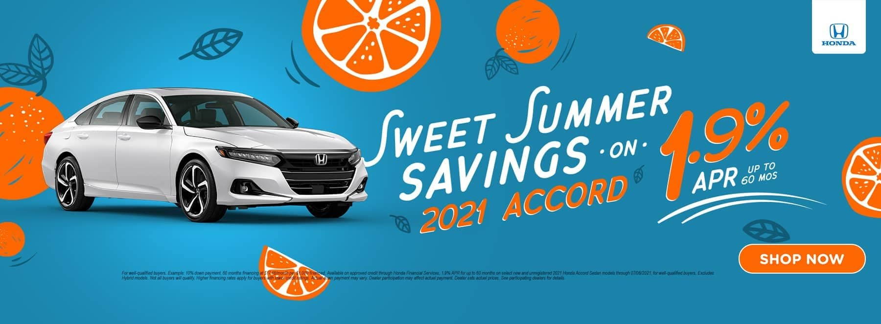 Sweet Summer Savings 2021 Honda Accord