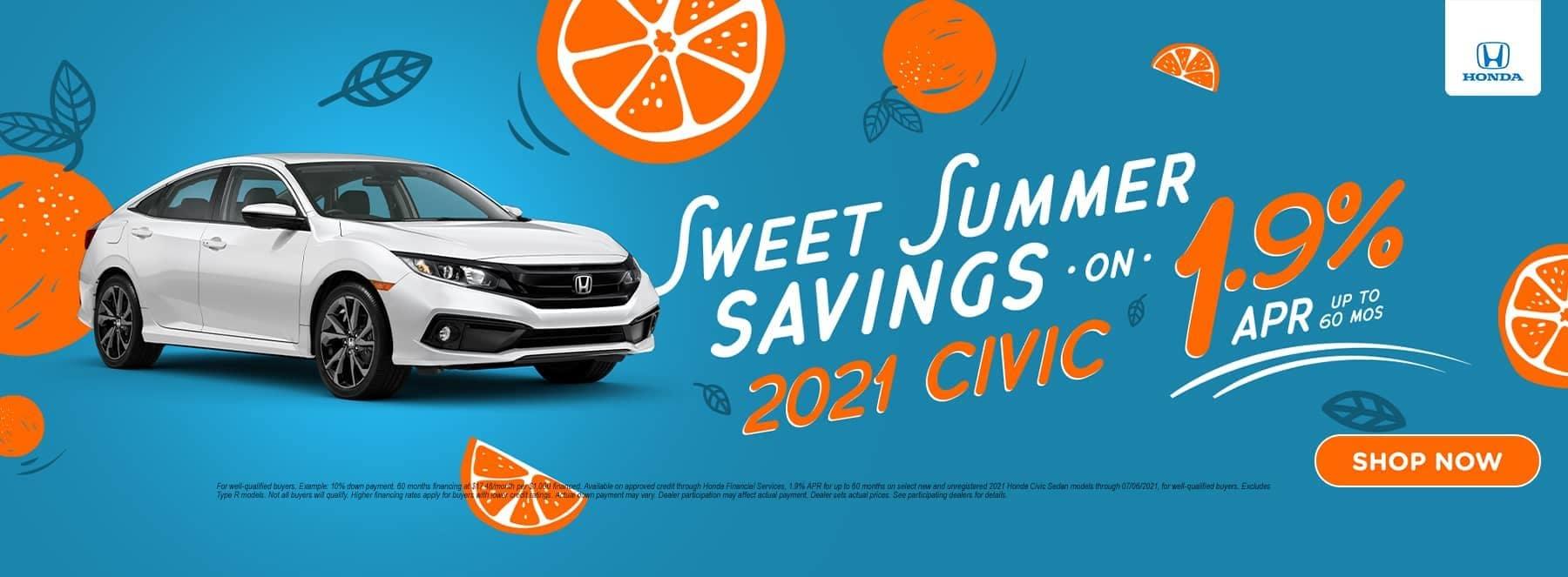 Sweet Summer Savings 2021 Civic