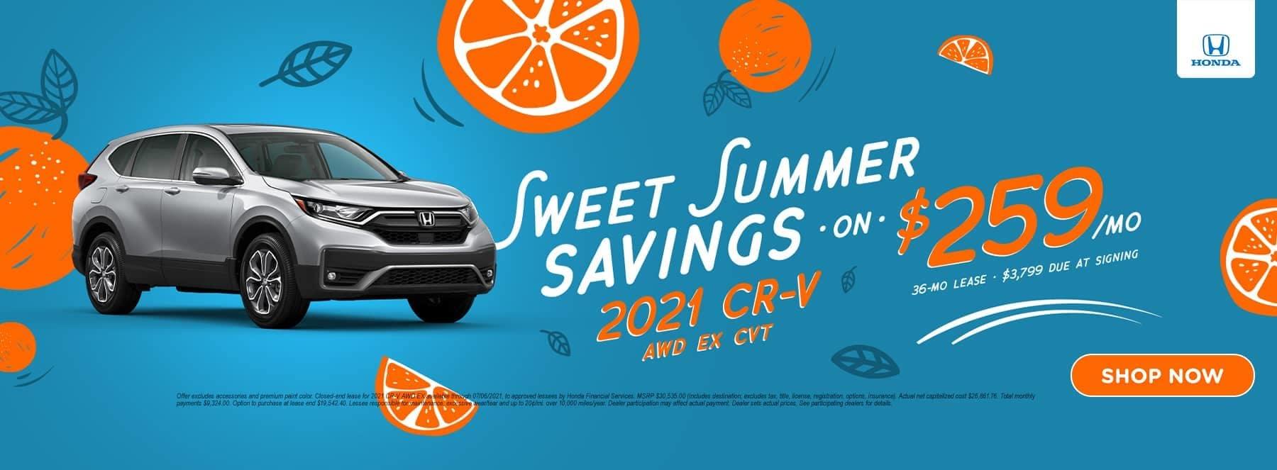 Sweet Summer Savings 2021 CR-V AWD EX CVT