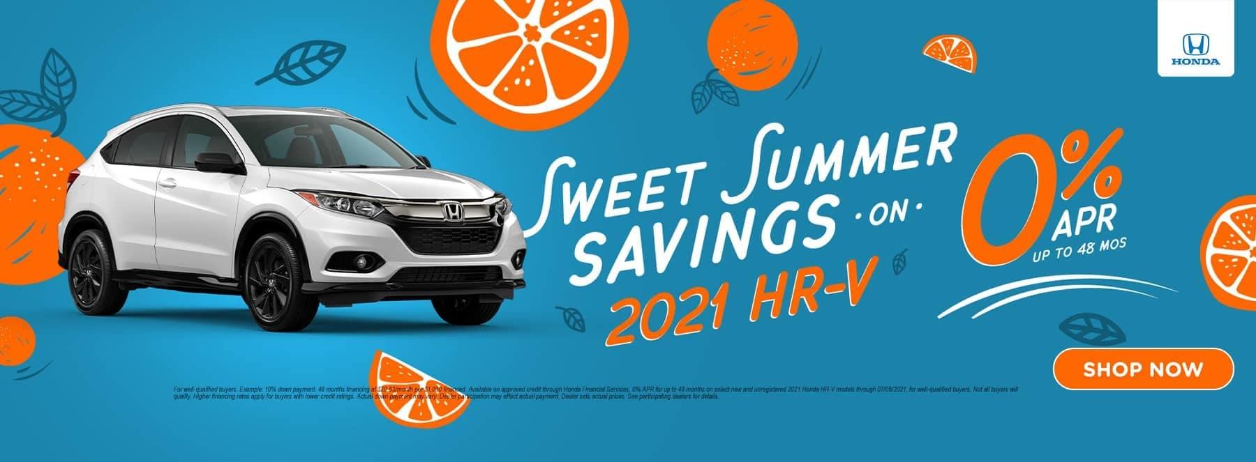 Sweet Summer Savings 2021 HR-V
