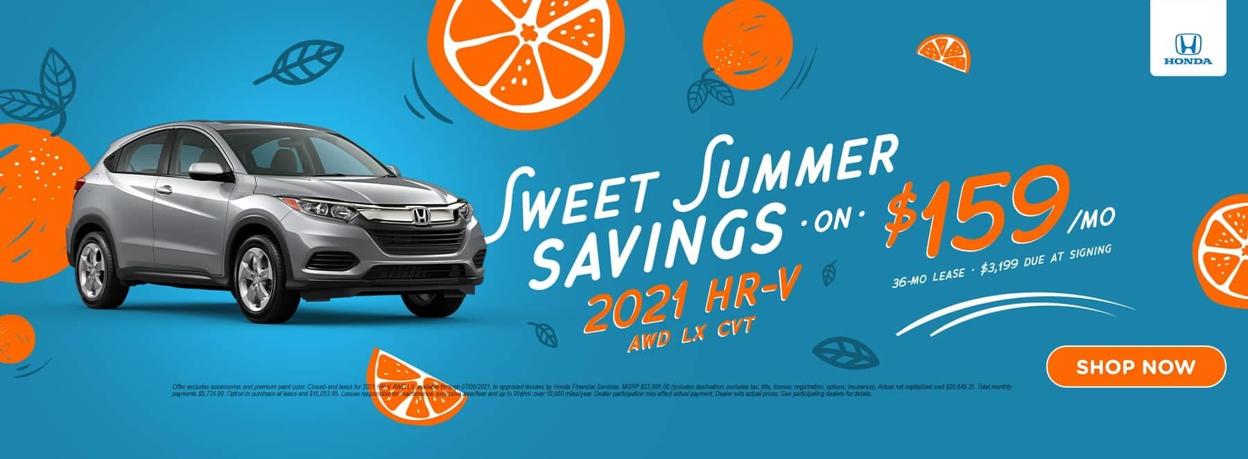 Sweet Summer Savings 2021 HR-V AWD LX CTV
