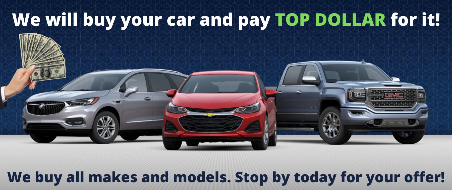 We Buy Cars Desktop Hero Slide