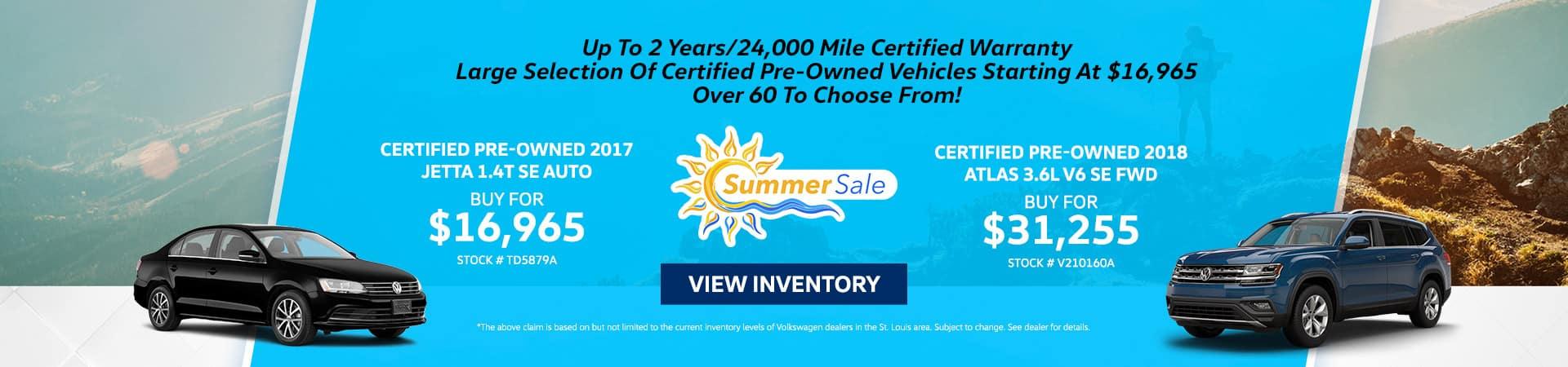 Summer Sale On CPO