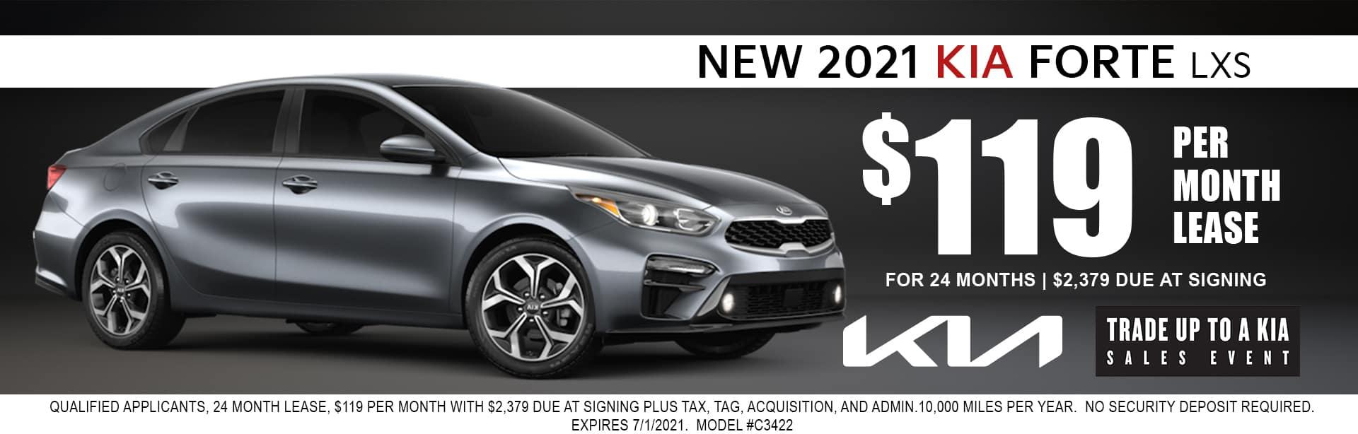 2021 Kia Forte lease for $119/mo
