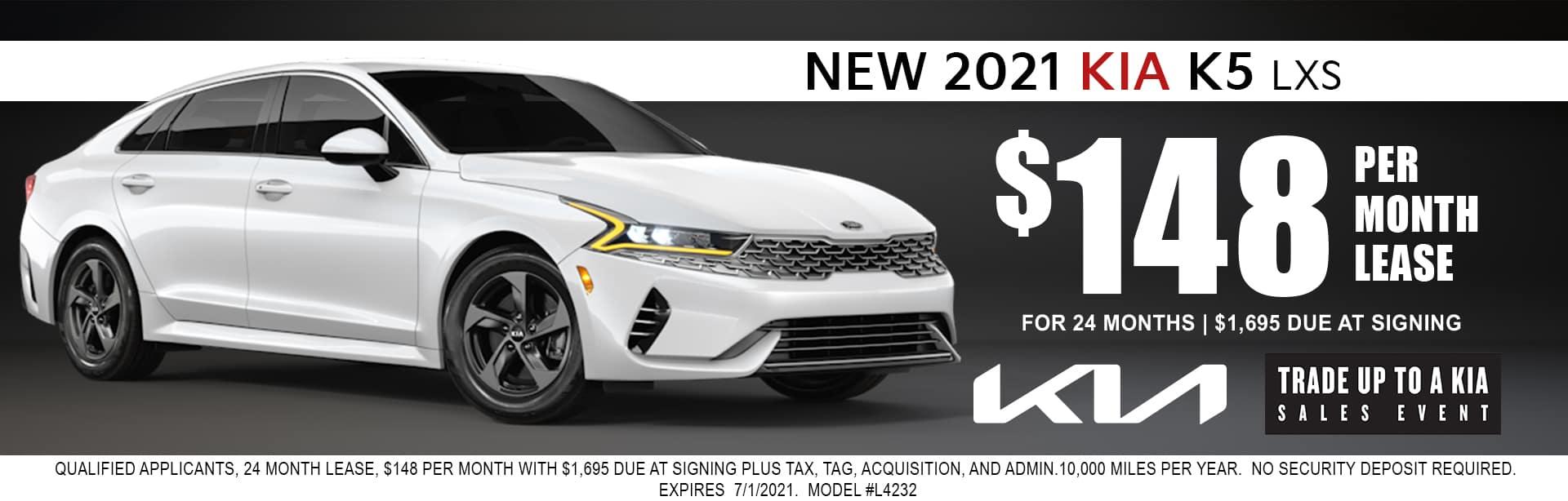 2021 Kia K5 lease for $148/mo