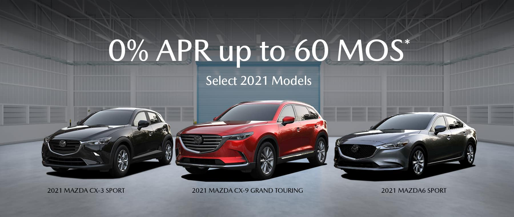 0% APR up to 60 Mos. on select 2021