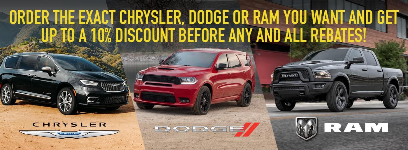 Custom Order Your CDJR Vehicle at Edwards Storm Lake