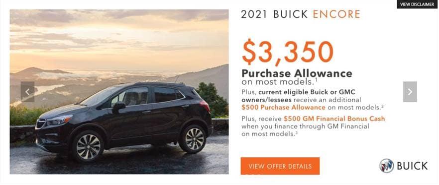 2021 Buick Encore Purchase allowance