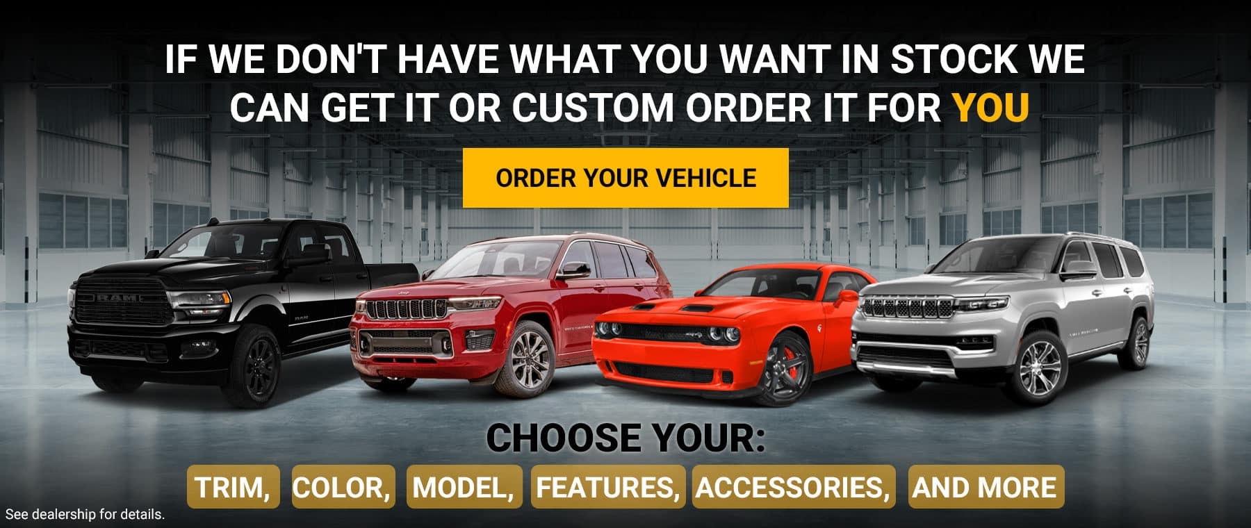 Reserve Your Vehicle