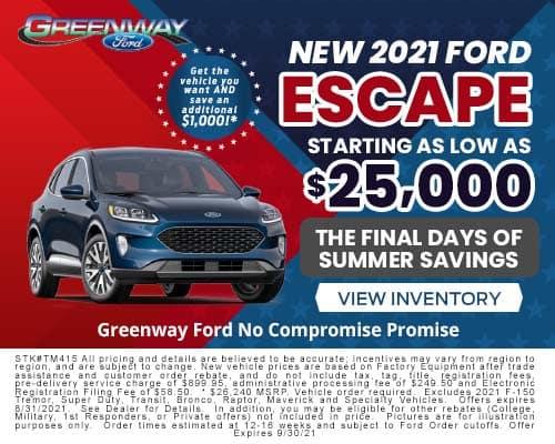 New 2021 Ford Escape