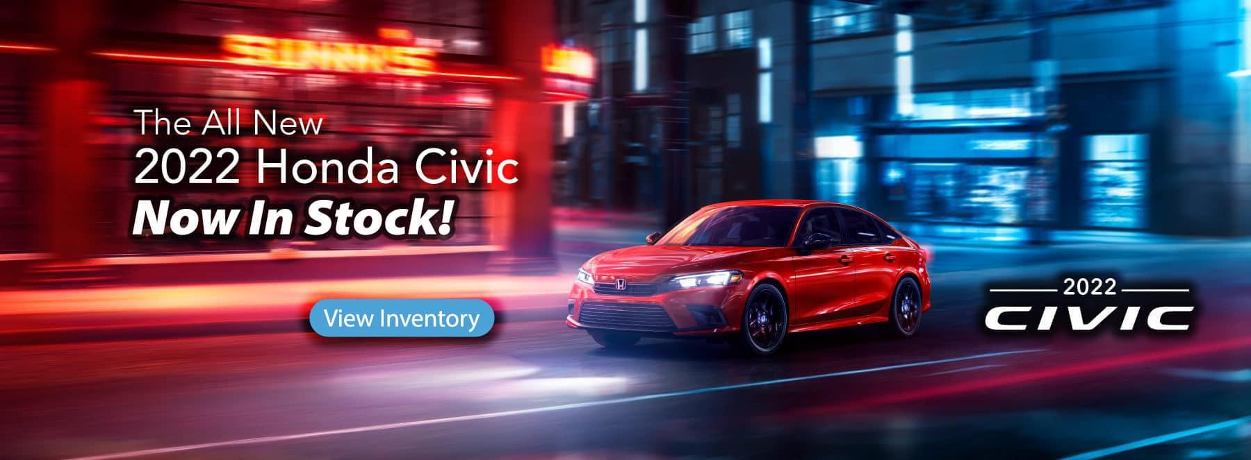 2022 Honda Civic In Stock!