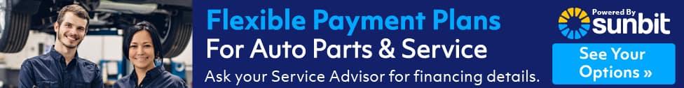flexible auto parts and service payment plans