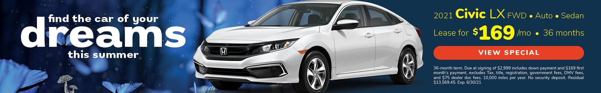 Lease 2021 Civic LX