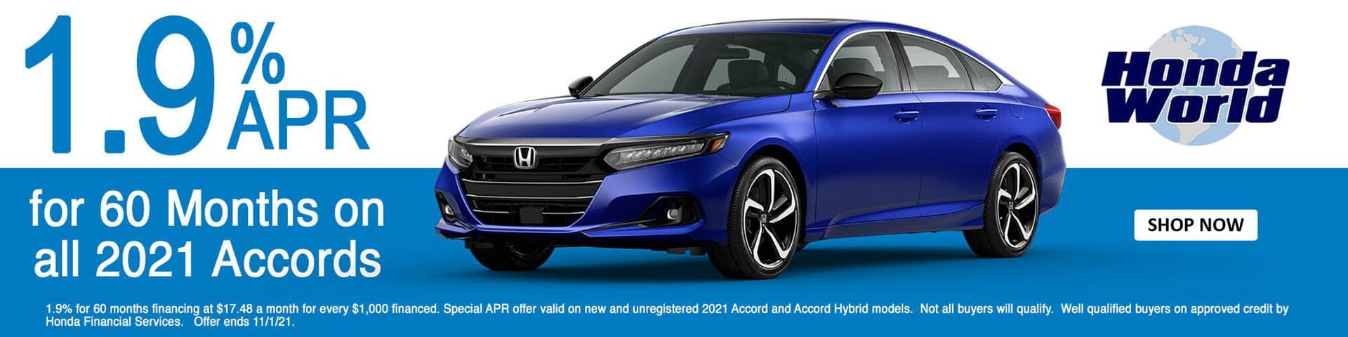 2021 Honda Accord APR Offer