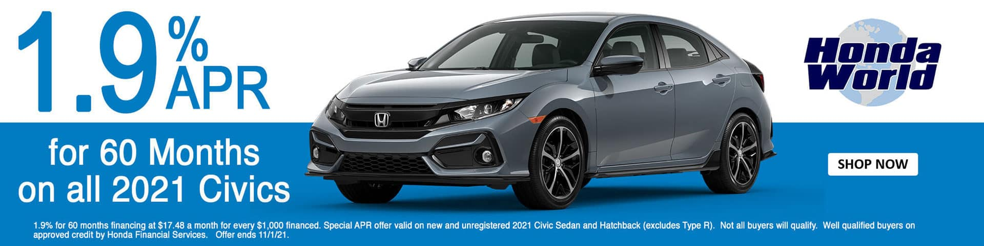 2021 Honda Civic APR Offer