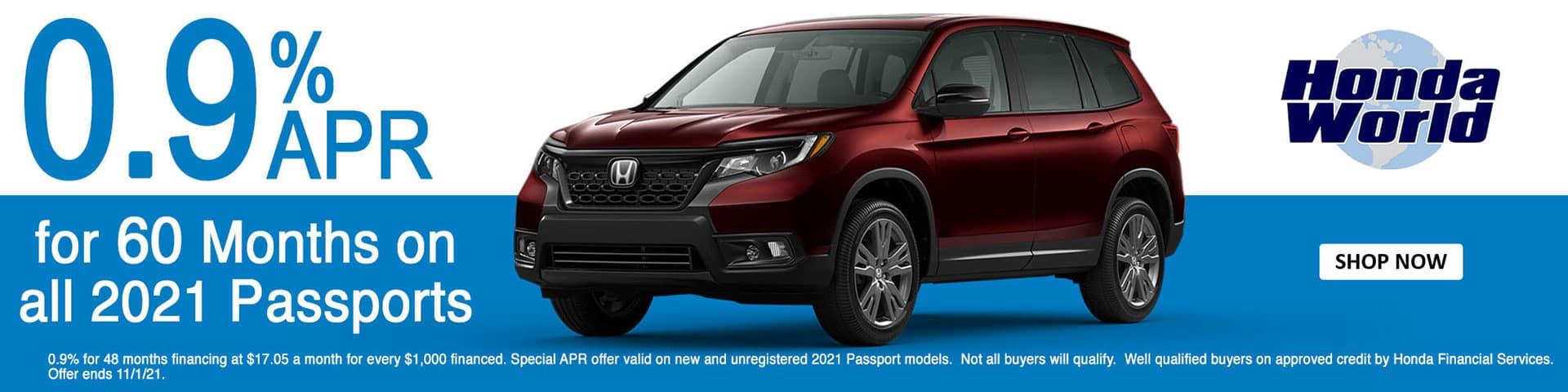 2021 Honda Passport APR Offer