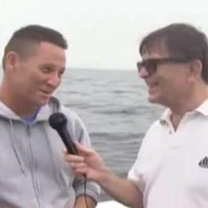 veteran talking into microphone