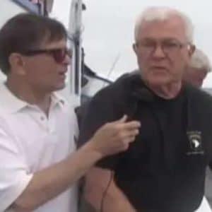 veteran talking to interviewer