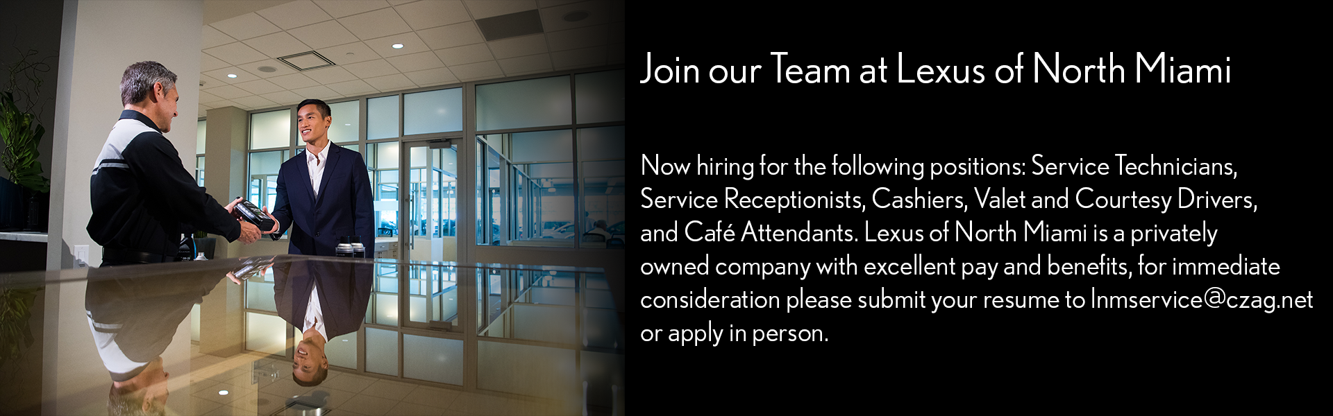 Join Our Team at Lexus of North Miami