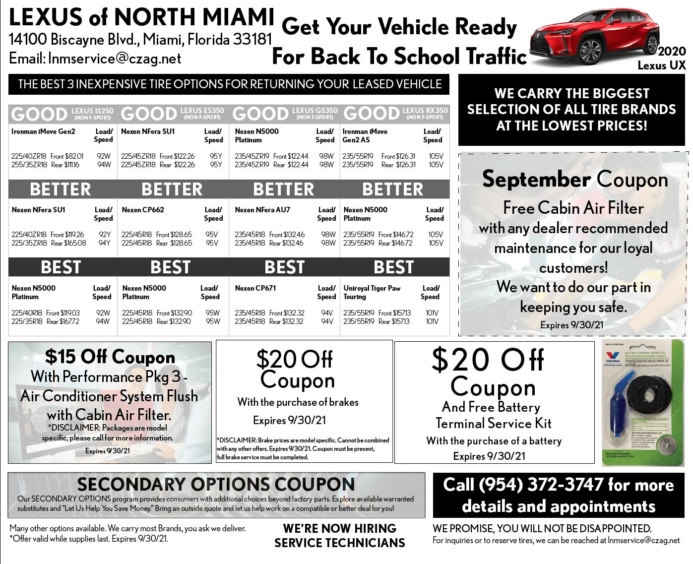 September Service Specials - North Miami