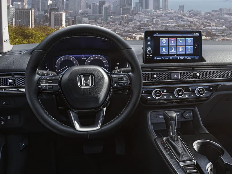 2022 Honda Civic Sedan interior comfort and technology