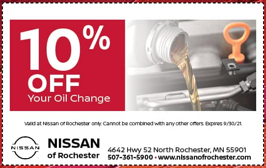 10% off Oil Change | Nissan of Rochester