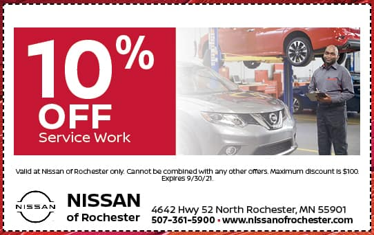 10% off Service Special | Nissan of Rochester