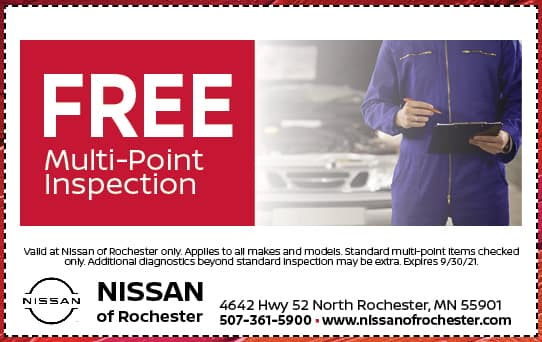 Free Multi Point Inspection | Nissan of Rochester