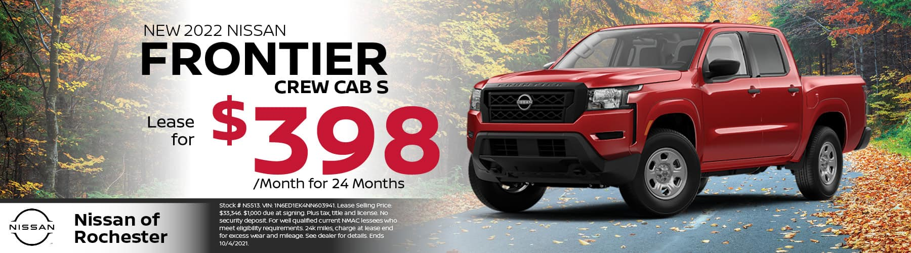 2022 Nissan Frontier Special Offer | Nissan of Rochester, MN