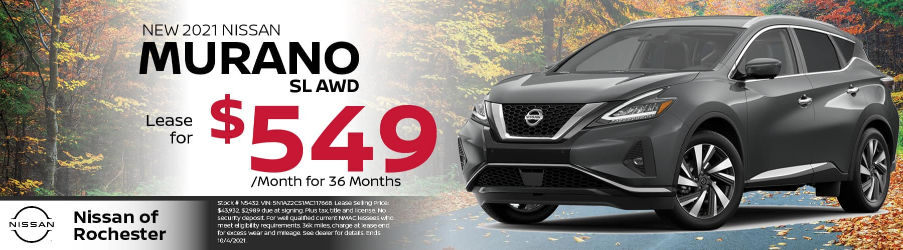 2021 NIssan Murano Special Offer | Nissan of Rochester, MN