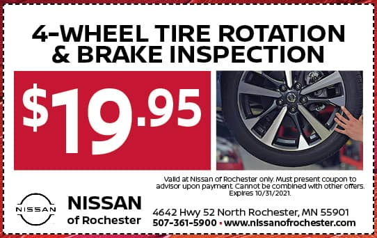 Four Wheel Tire and Brake Inspection | Nissan of Rochester