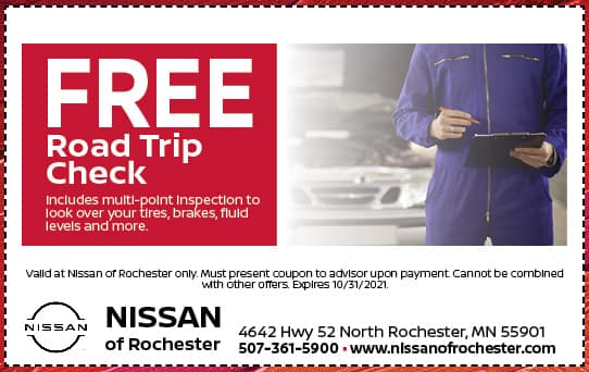Free Road Trip Check Special | Nissan of Rochester