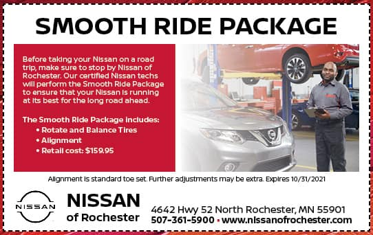 Smooth Ride Package | Nissan of Rochester