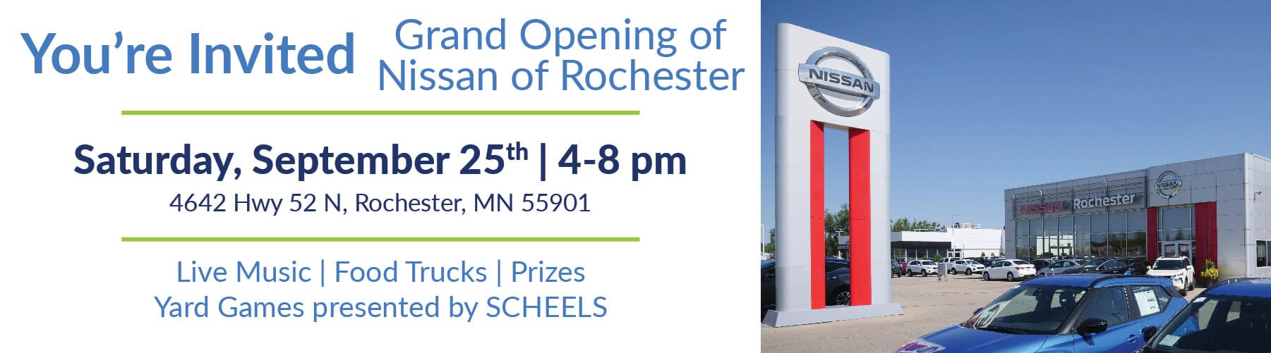 grand opening Nissan of Rochester