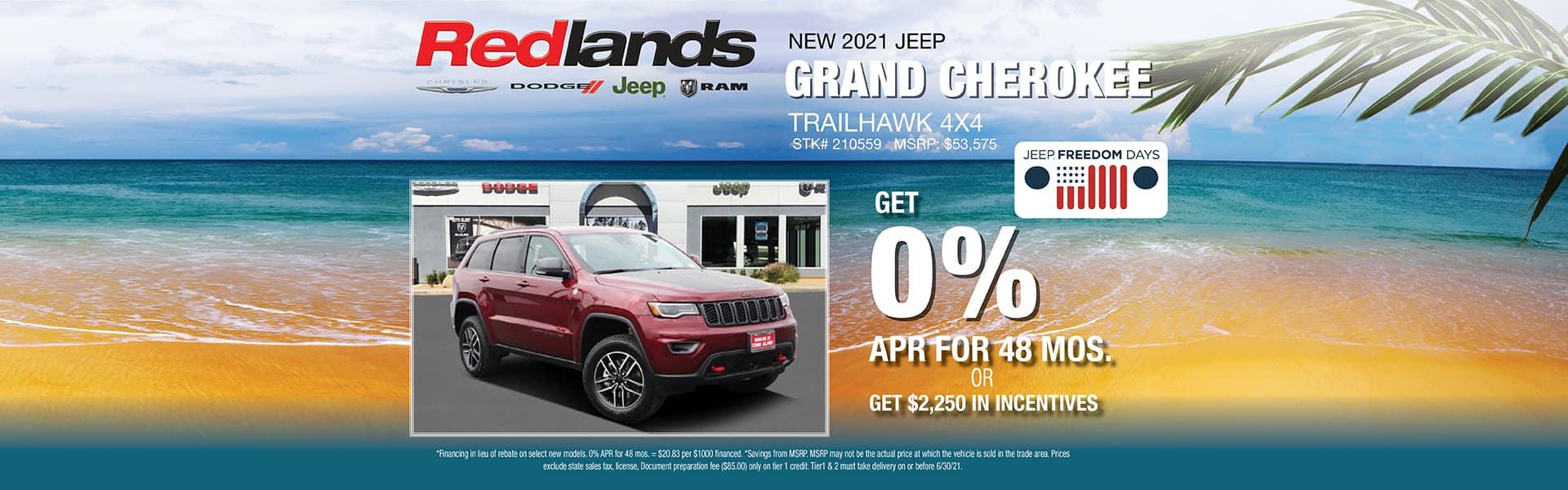 2021 Jeep Grand Cherokee Lease Offer | Redlands CDJR