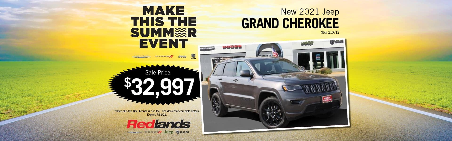 2021 Jeep Grand Cherokee Special Offer | Redlands CDJR