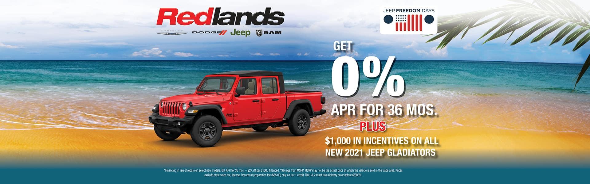 2021 0% Jeep Gladiator | Redlands CDJR