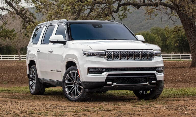 2022 Jeep Grand Wagoneer exterior parked in nature