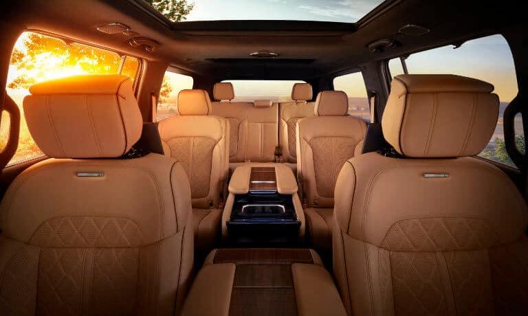 2022 Jeep Grand Wagoneer interior rear seating