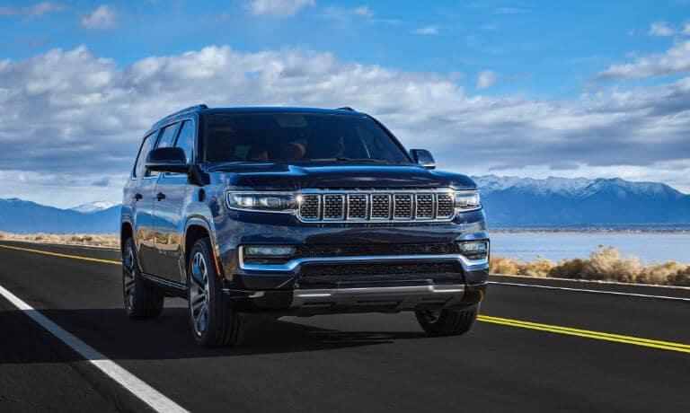 2022 Jeep Wagoneer exterior driving along coastal highway