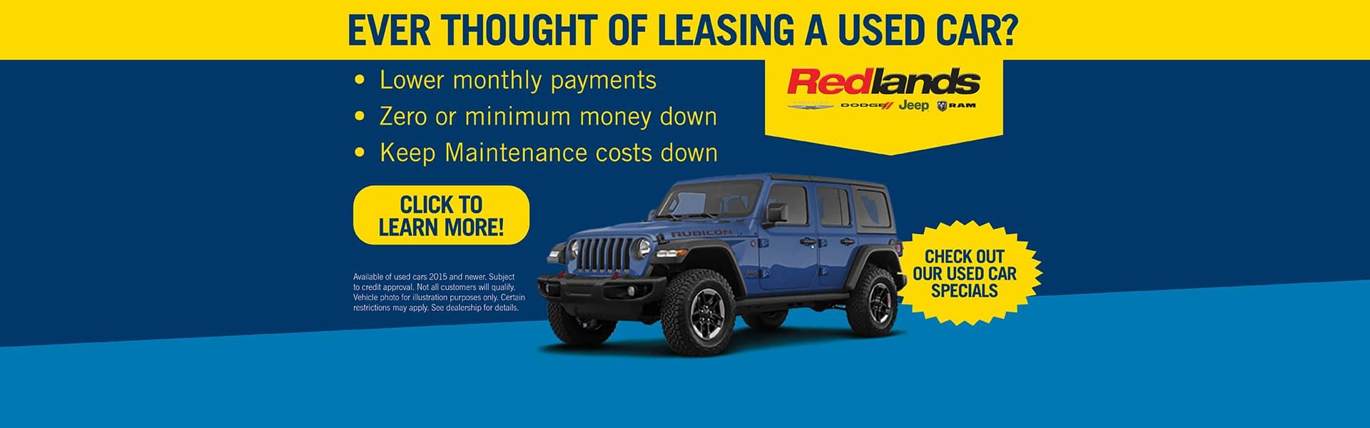 Lease a Used Car | Redlands CDJR