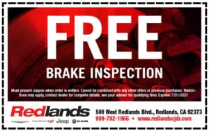 Free Brake Inspection | Redlands CDJR