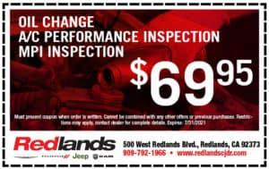 $69.95 Oil Change & Inspection Special | Redlands CDJR